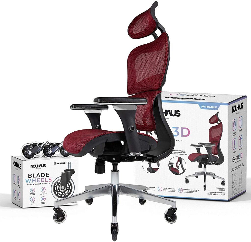 NOUHAUS Ergo3D Best Budget Ergonomic Chair For Gaming And Office