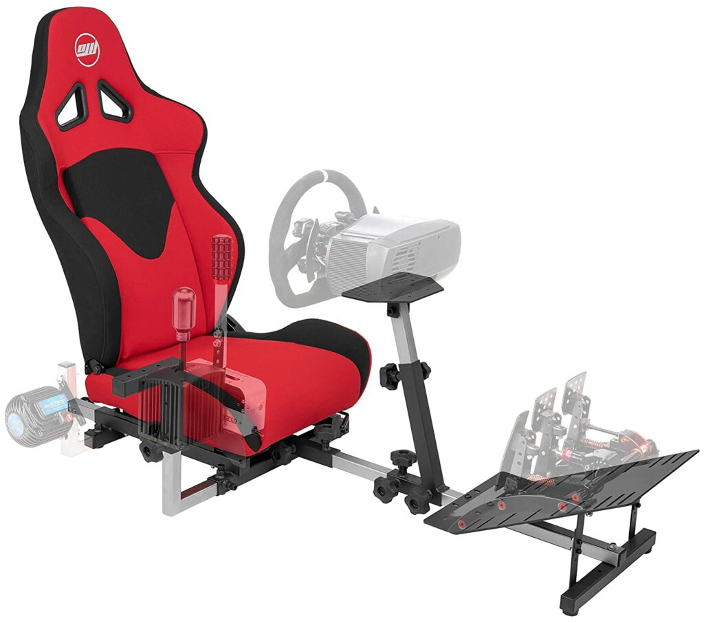 OpenWheeler GEN3 Racing Wheel Stand Cockpit All Red Gaming Chair