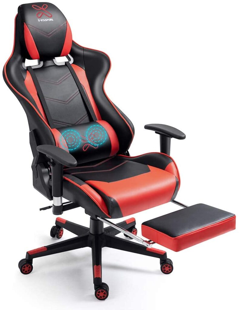 Best Computer gaming chair with footrests.