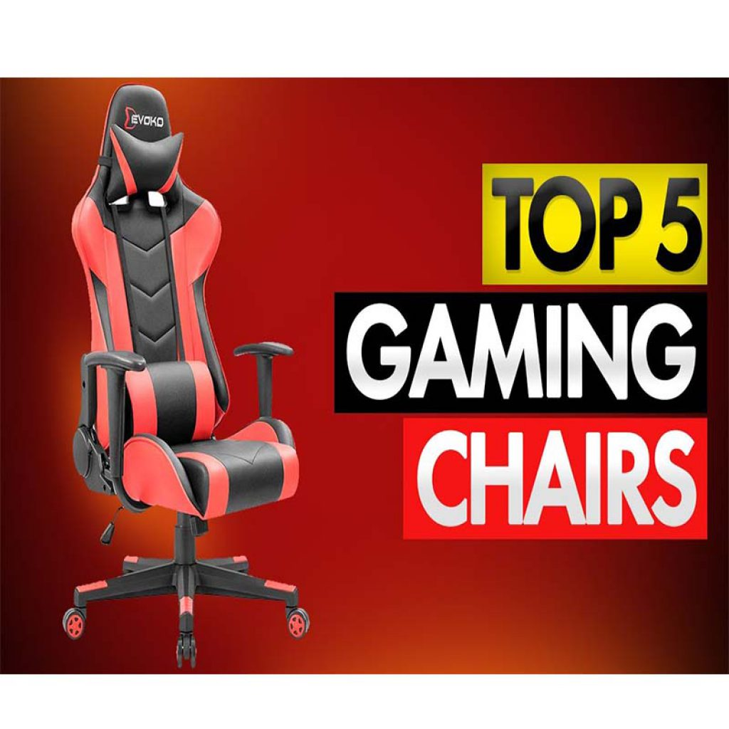 all red gaming chair