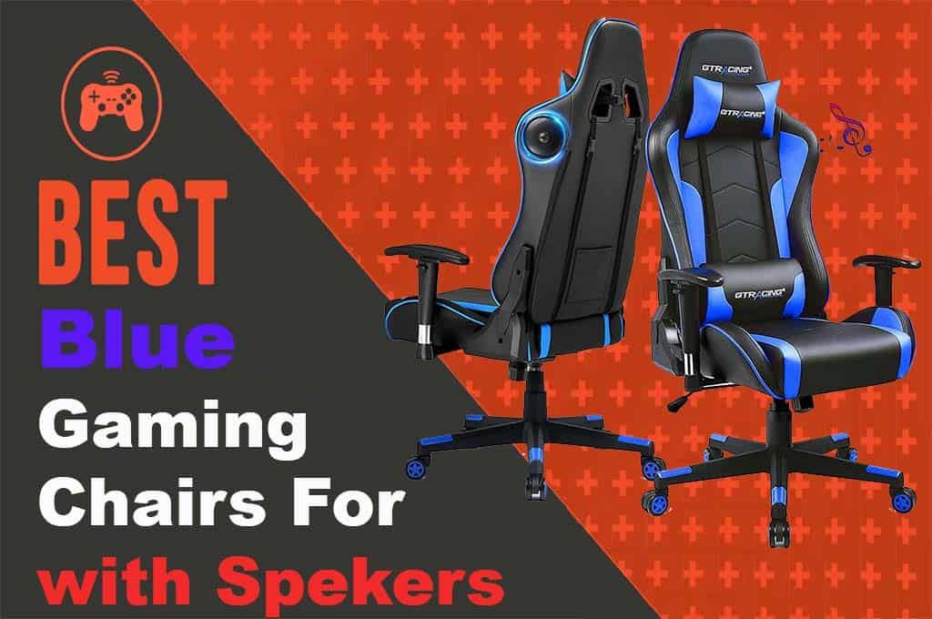 Best Blue Gaming Chair With Speakers and Massager 2