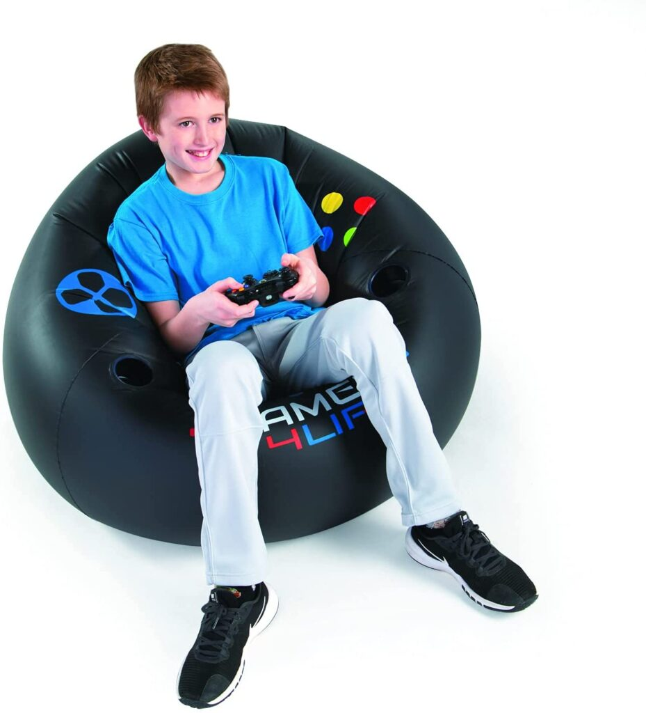 Inflatable Video Gaming Chair for Kids, Teens