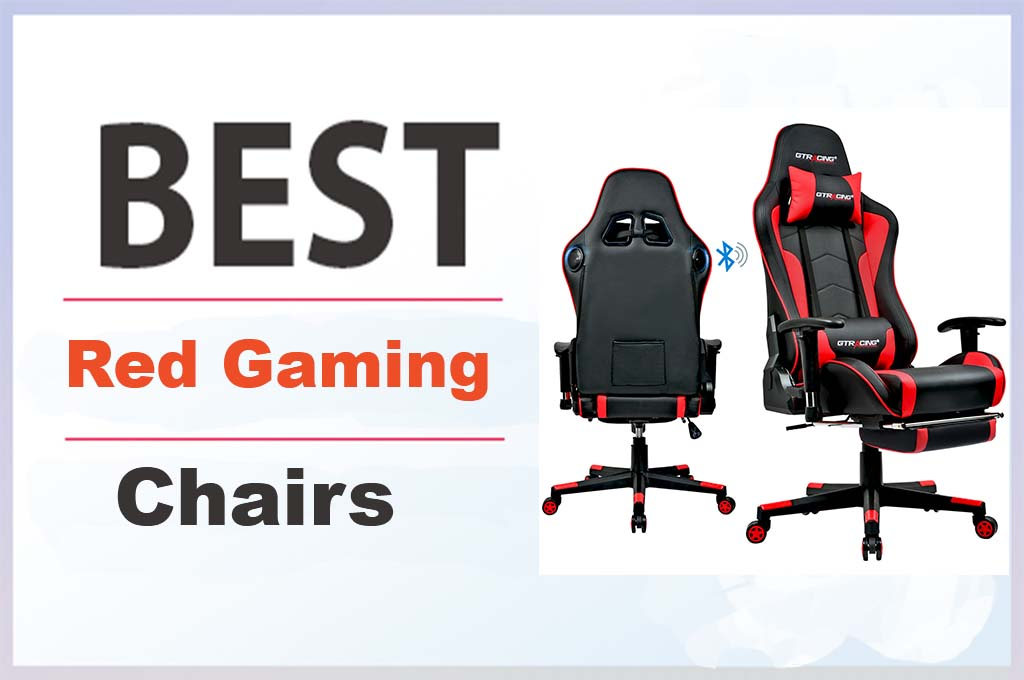 Red Gaming Chair With Speakers